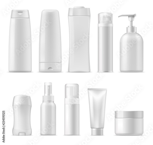 Cosmetic vector plastic package mockups