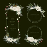 Floral frame collection for invitation cards and graphics.