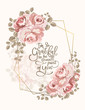 The pink rose frame for invitation cards and graphics. - 234623736