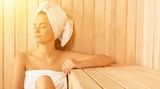 Health spa female relax relaxation girl beauty spa sauna