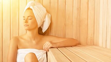 Health spa female relax relaxation girl beauty spa sauna © BillionPhotos.com