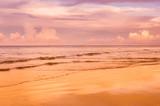 sunset time on the sandy beach