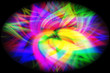 Colorful abstract background close-up flower,blue, pink, white,green yellow