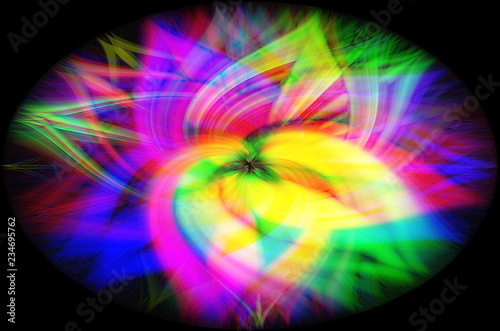 Colorful abstract background close-up flower,blue, pink, white,green yellow - 234695762