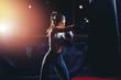 Leinwanddruck Bild - girl athlete Boxing MMA