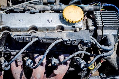 motor in the car
