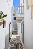 Traditional architecture in Kástro old town on Naxos, Greece - 234751163