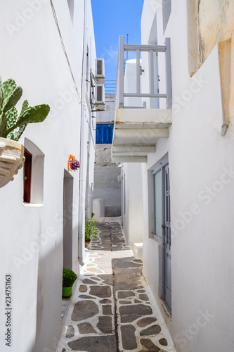 Traditional architecture in Kástro old town on Naxos, Greece