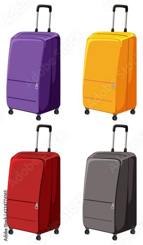Zbiór różnych bagaży