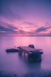 Bridge at sea at sunset © xotaka