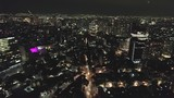 Aerial top view of Mexico City at night  - 234809952