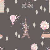 Paris. Vector  seamless pattern © rraya
