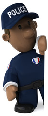 Fun policeman - 3D Illustration © Julien Tromeur