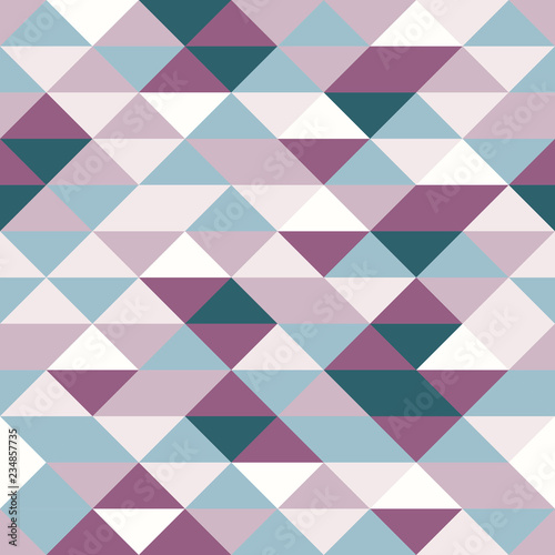 fototapeta na ścianę Vector modern seamless colorful geometry triangle pattern, color abstract geometric background, pillow multicolored print, retro texture, hipster fashion design