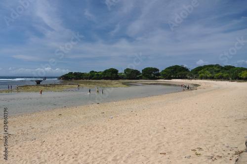 tropical beach with white sand  - 234860396