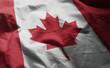 Canada Flag Rumpled Close Up