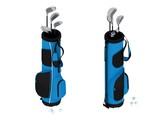Golf club in blue bag