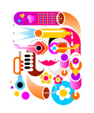 Music abstract vector artwork