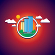 city building company cloud cityscape urban - 234902580