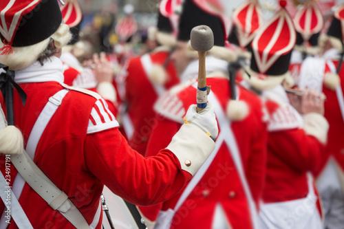 Leinwanddruck Bild Karneval, Rosenmontag, Rosenmontagszug, Trommel