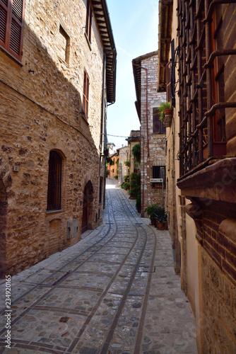 Streets of Spello in Umbria, Italy.  - 234920165