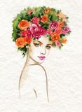 beautiful woman. fashion illustration. watercolor painting - 234922913