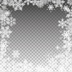 Transparent snowy template