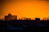 beautiful sunrise in the city © Dmitrii