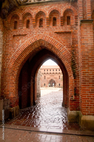 fototapeta na ścianę Historic gate in Cracow old town