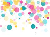 Memphis round confetti festive background - 235014769