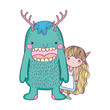 little fairy with monster characters  - 235018137