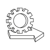 gear arrow business on white background - 235049791