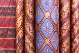 Paris / Sainte Chapelle / colonne peinte avec fleur de lys