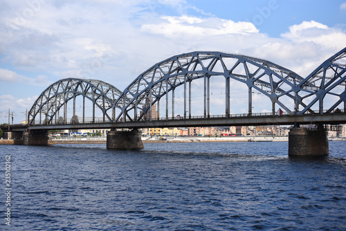 Riga, bridge, view from the water