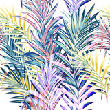 Collection of colorful palm leaves for design - 235108985