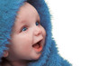 Quadro Smiling Happy Baby In Blue Blanket
