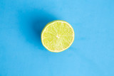 lime in colorful background
