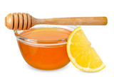 Honey lemon isolated on white with clipping path