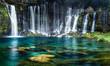 Leinwanddruck Bild - Wasserfälle mit türkisblauem Wasser