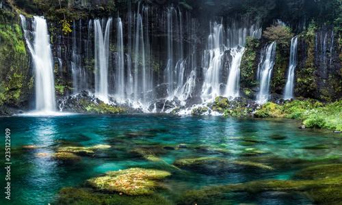 Leinwanddruck Bild Wasserfälle mit türkisblauem Wasser