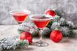 Quadro Christmas festive cocktail red martini