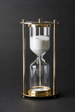 Sand clock, business concept teamwork & time management - 235152104