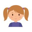 beautiful little girl character