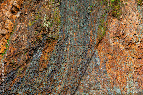 colorful rock layers interesting background with fascinating texture - 235166965