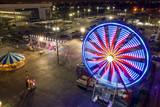 Aerial night photo Broward County youth Fair Hallandale Florida USA