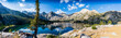 Panoramic Lower Rae Lakes, Sierras, CA - 235207936