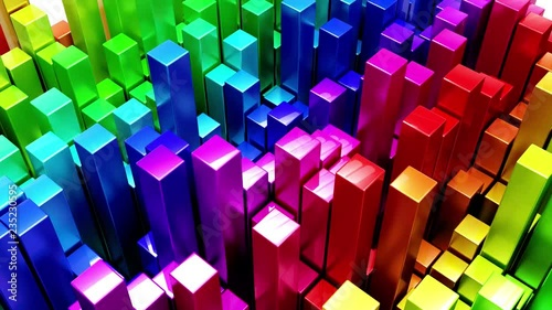 Render of 3D Geometric Abstract Background © Kirsty Pargeter