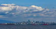Skyline of Vancouver, British Columbia as seen from the water on Sunset Bay