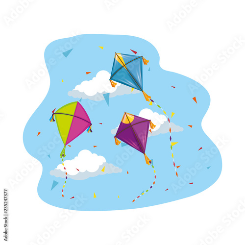 cute kites flying in the sky