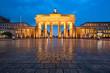 Quadro Brandenburger Tor im Winter bei Nacht, Berlin, Deutschland